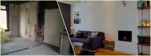 Verbouwing woonkamer