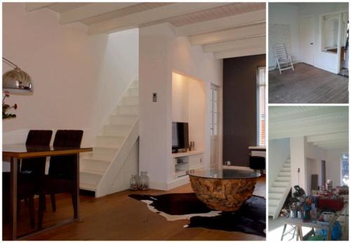 Collage verbouwing woonkamer