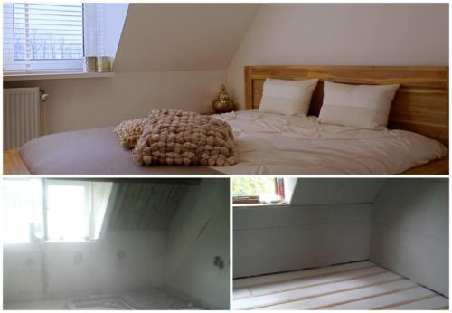 Collage verbouwing Slaapkamer